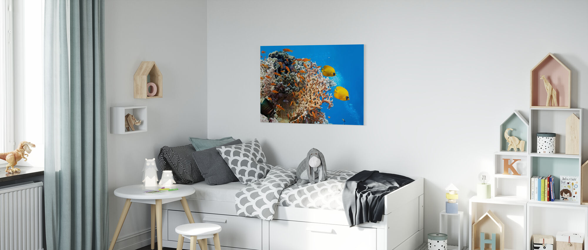 Coral Scene - Panorama - Canvas print - Kids Room