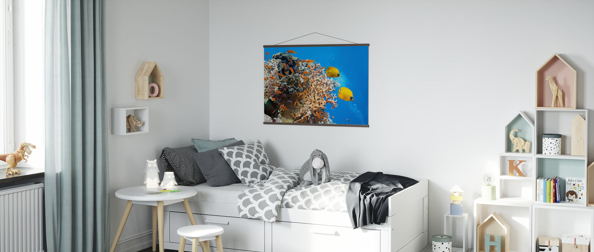 Korall Scene - Panorama - Plakat - Barnerom