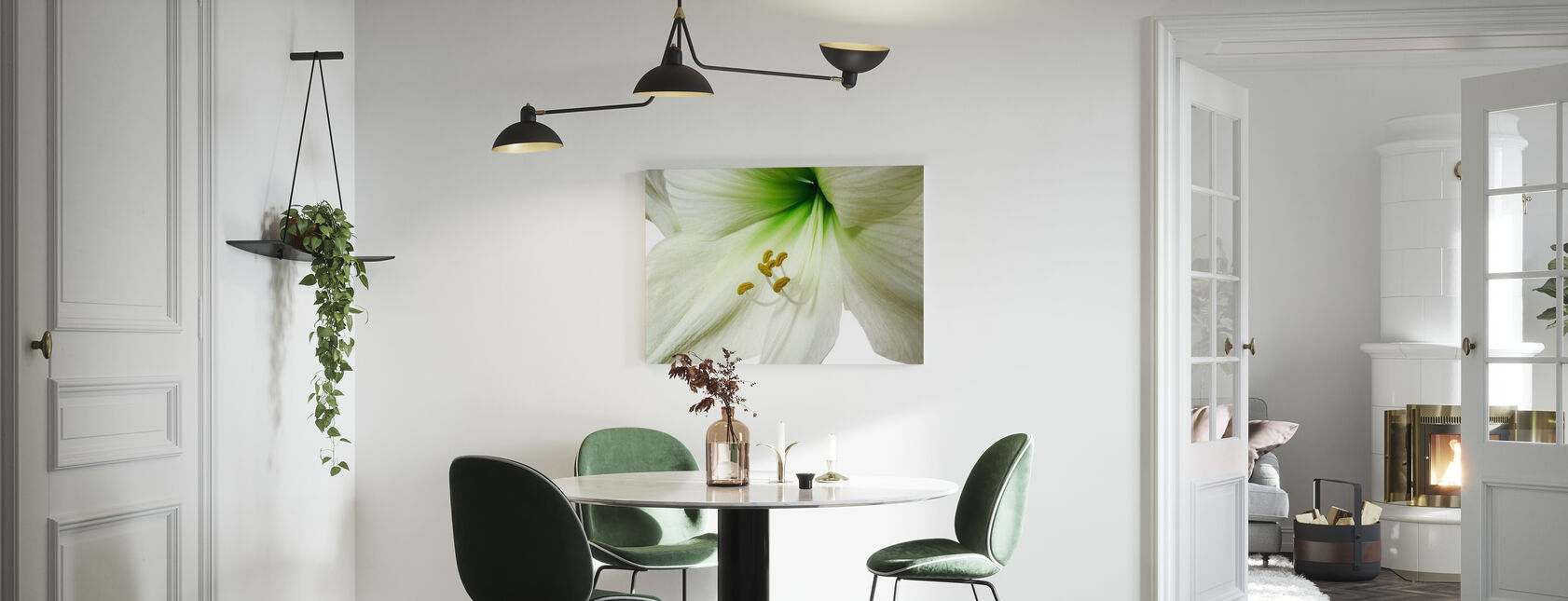 Amaryllis - Close up - Canvas print - Kitchen