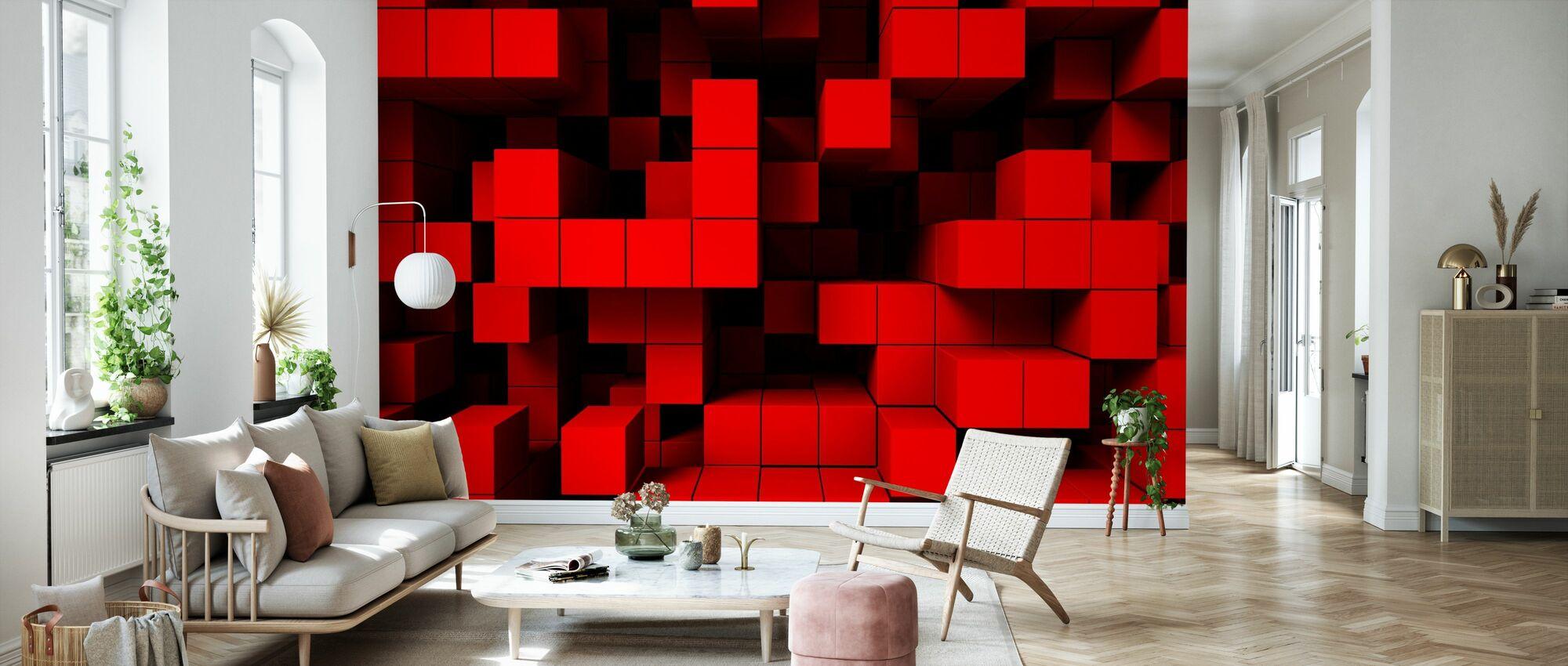 Tiefer Tetris - Tapete - Wohnzimmer