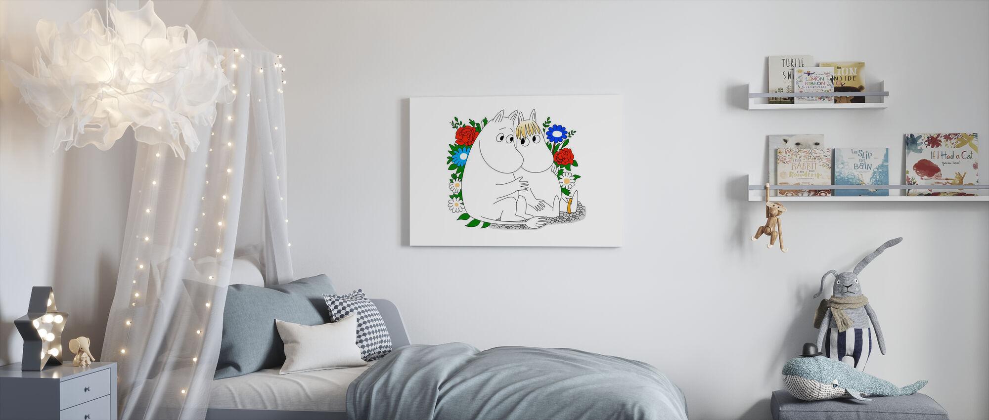 Mumin - Snorkjungfrun - Canvastavla - Barnrum