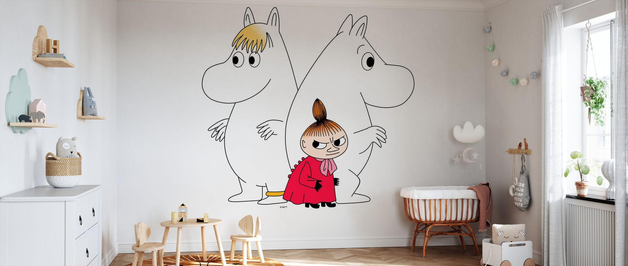 Moomin - Snorkmaiden and Little My - Wallpaper - Nursery