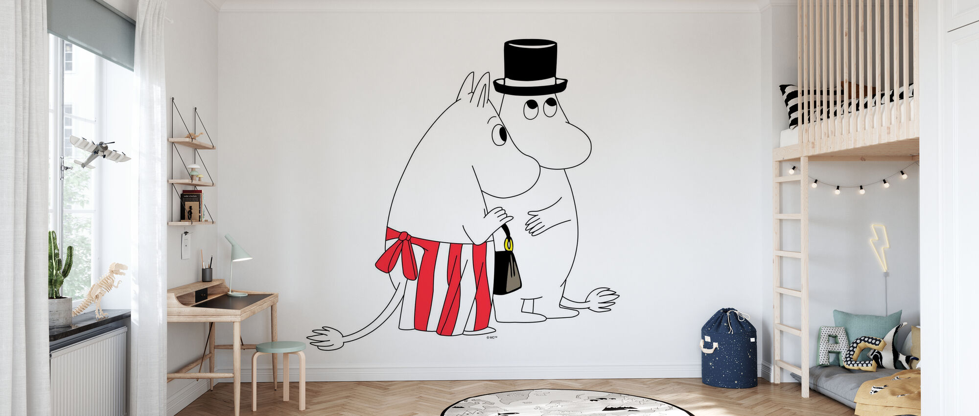 Moomin - Moominmamma and Moominpappa - Wallpaper - Kids Room