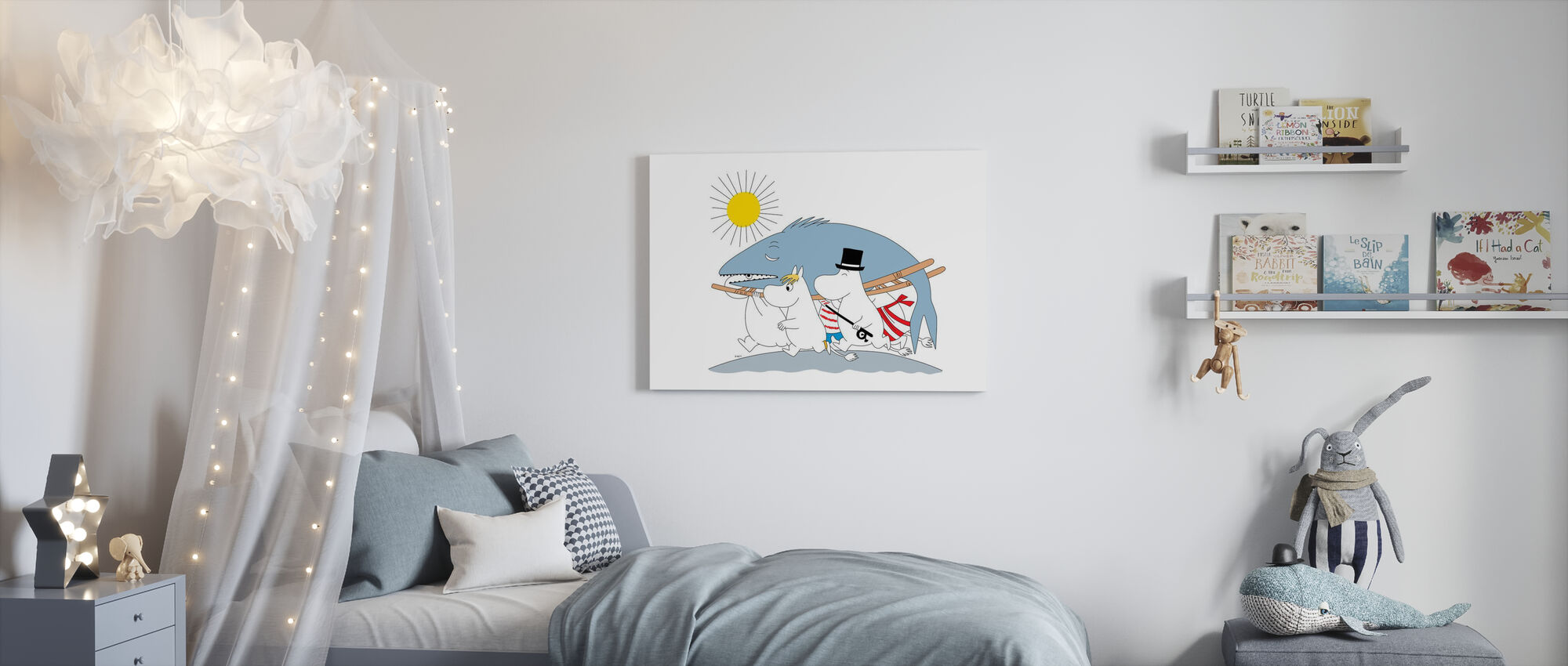 Mumin - Big Fish - Leinwandbild - Kinderzimmer