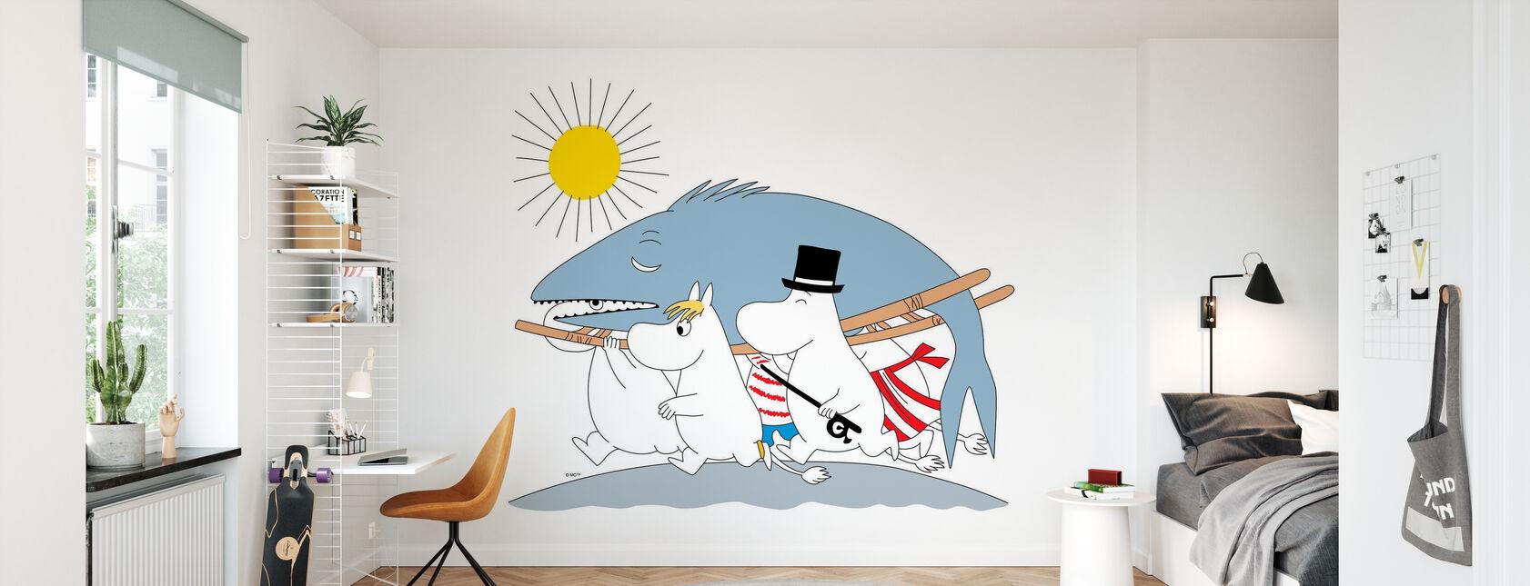 Moomin - Big Fish - Wallpaper - Kids Room