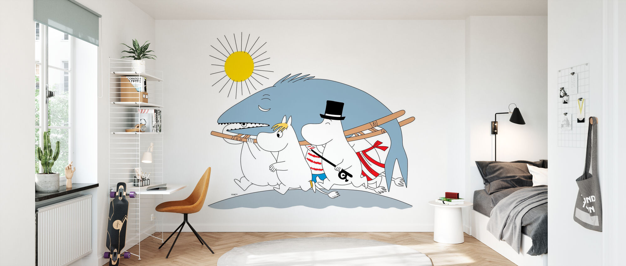 Moomin - Big Fish - Wallpaper - Kids Room