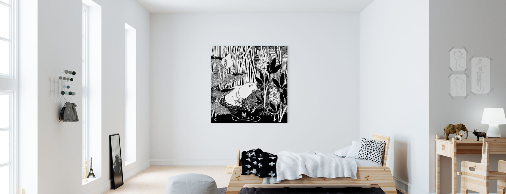 Moomin - Sove - Lerretsbilde - Barnerom