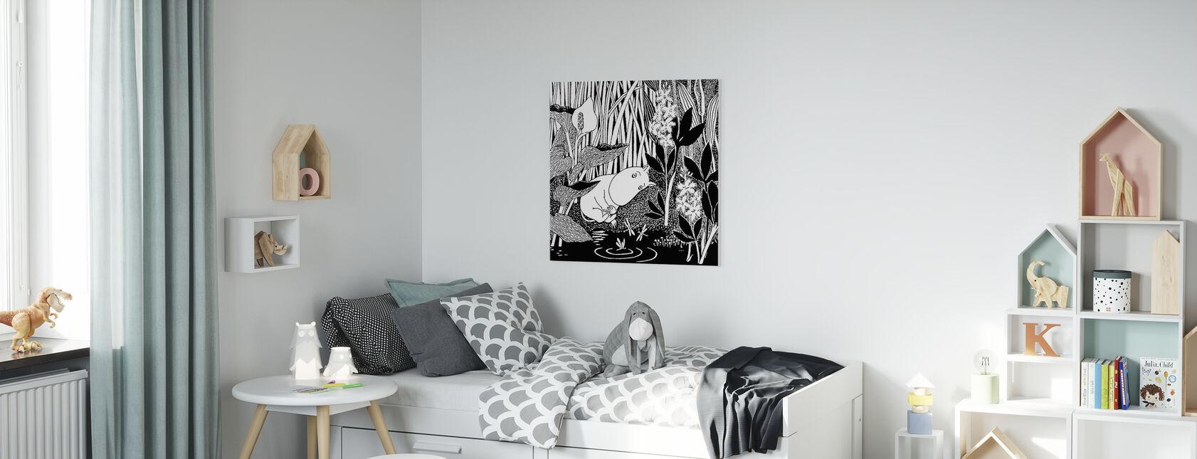 Moomin - Slapen - Canvas print - Kinderkamer