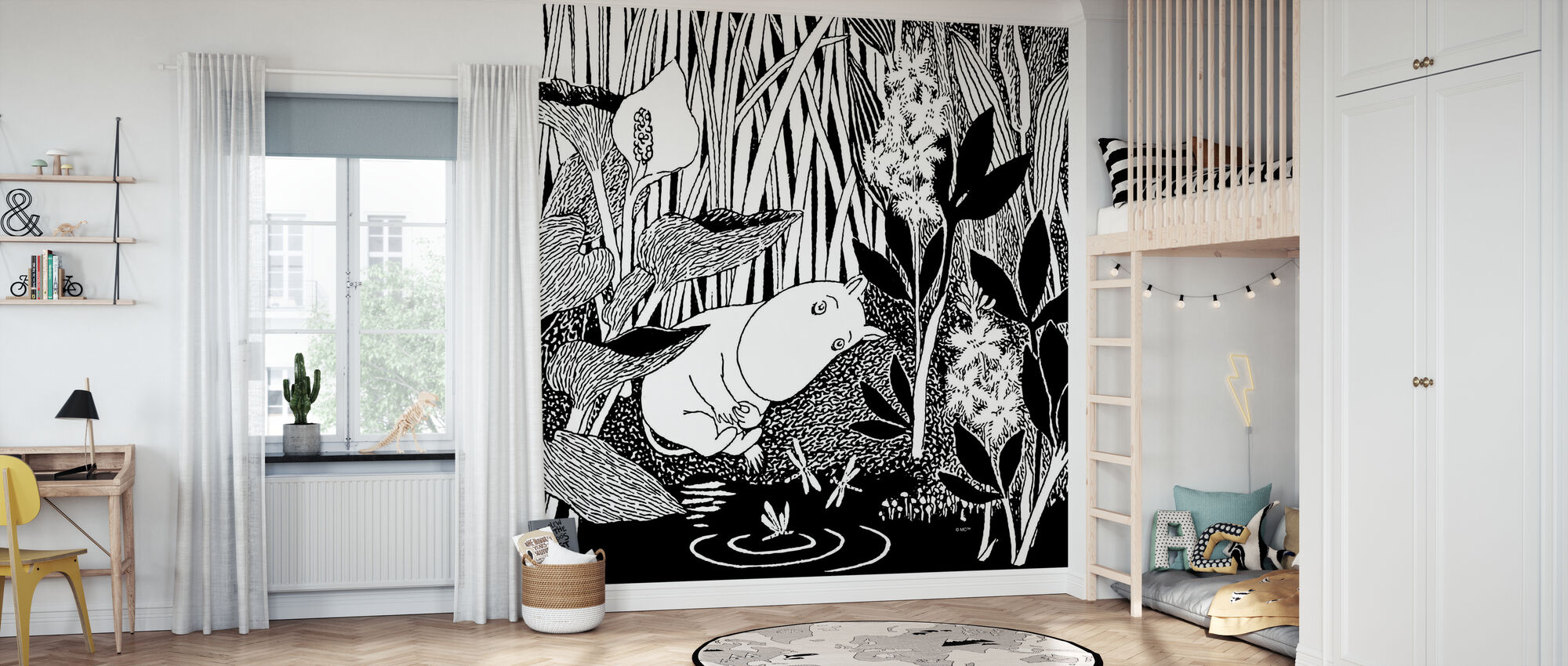 Moomin - Sleeping - Wallpaper - Kids Room