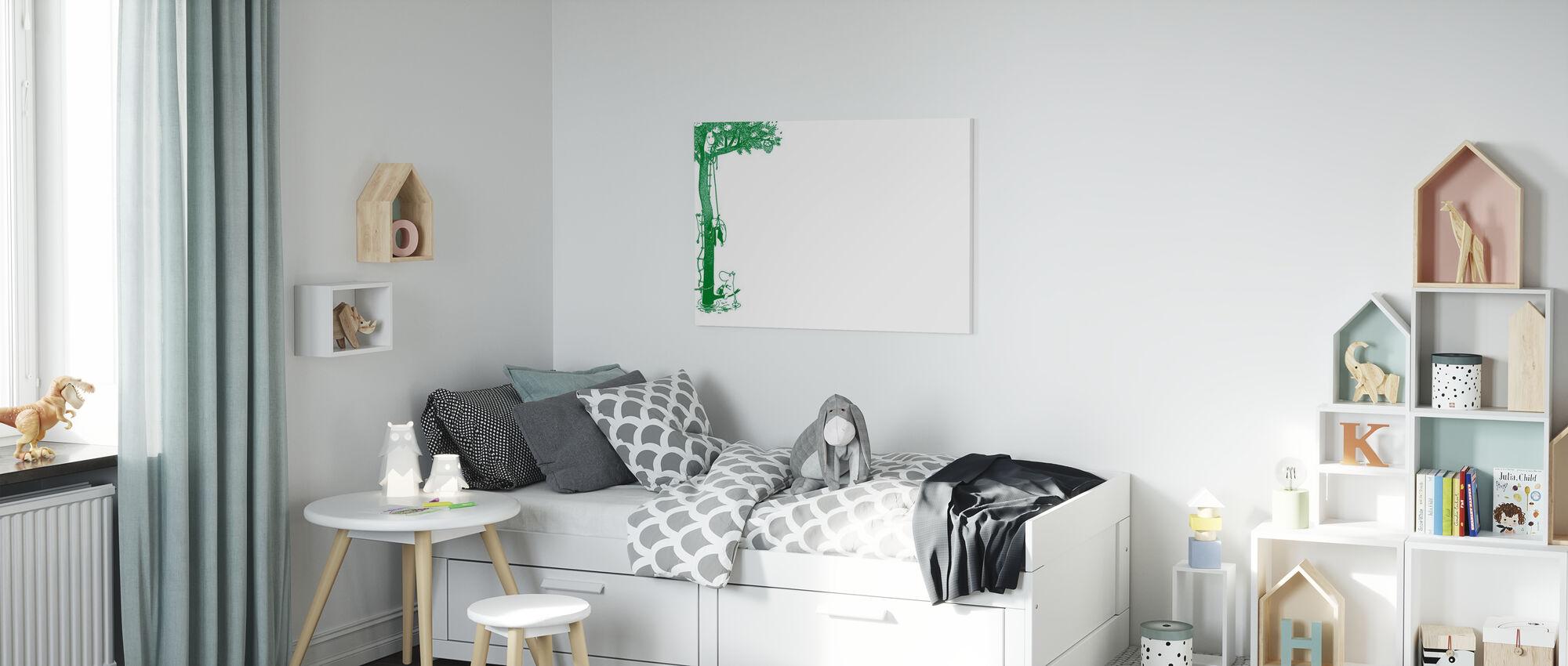 Moomin - Arbre - Impression sur toile - Chambre des enfants