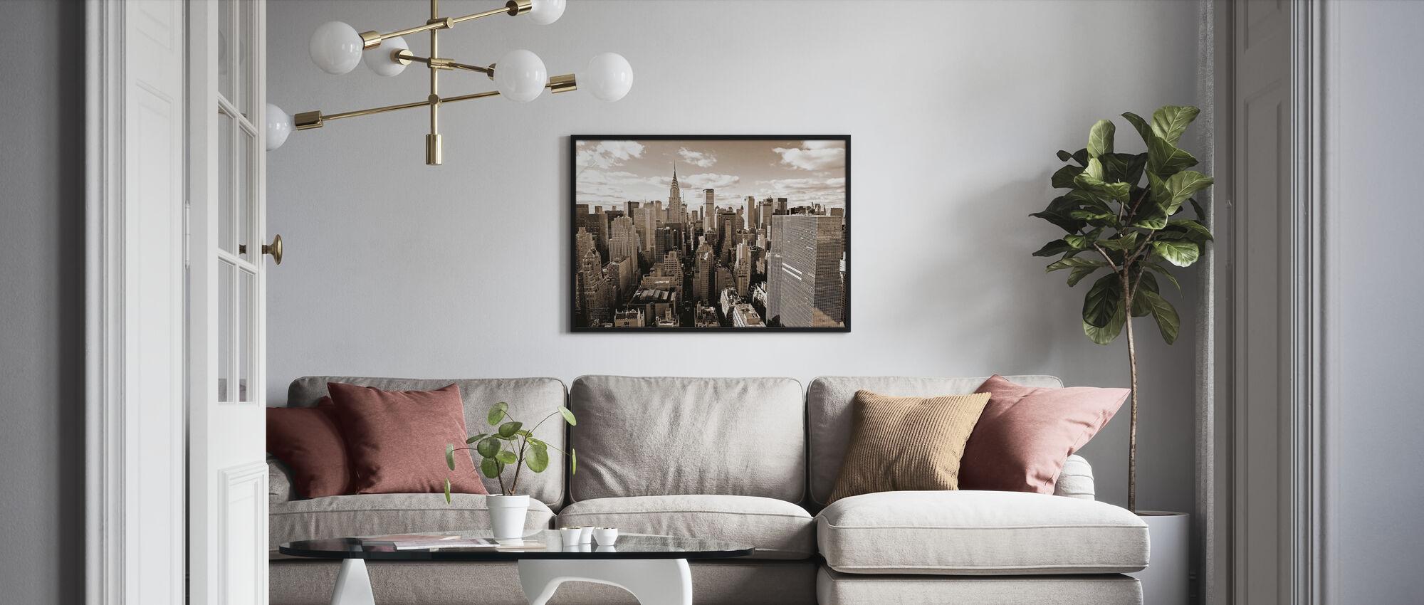 Boven Manhattan - Ingelijste print - Woonkamer