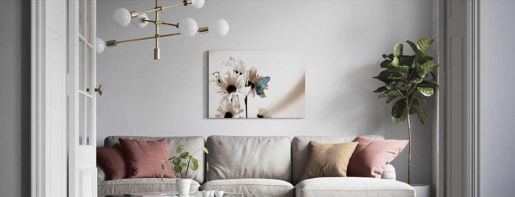 Julia Butterfly - Blue - Canvas print - Living Room