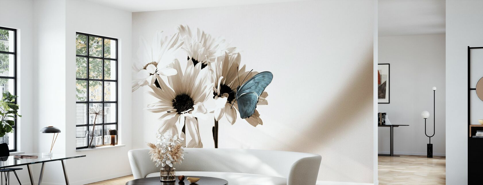 Julia Butterfly - Blue - Wallpaper - Living Room