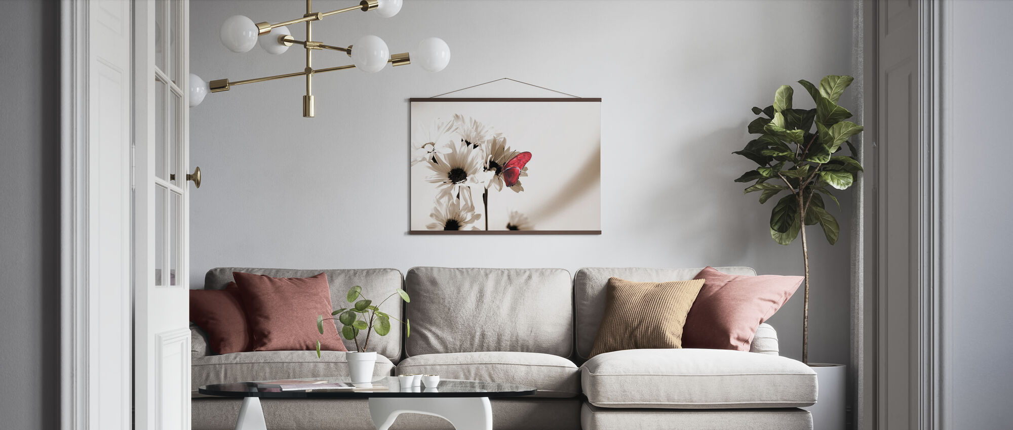 Julia Schmetterling - Deep Red - Poster - Wohnzimmer