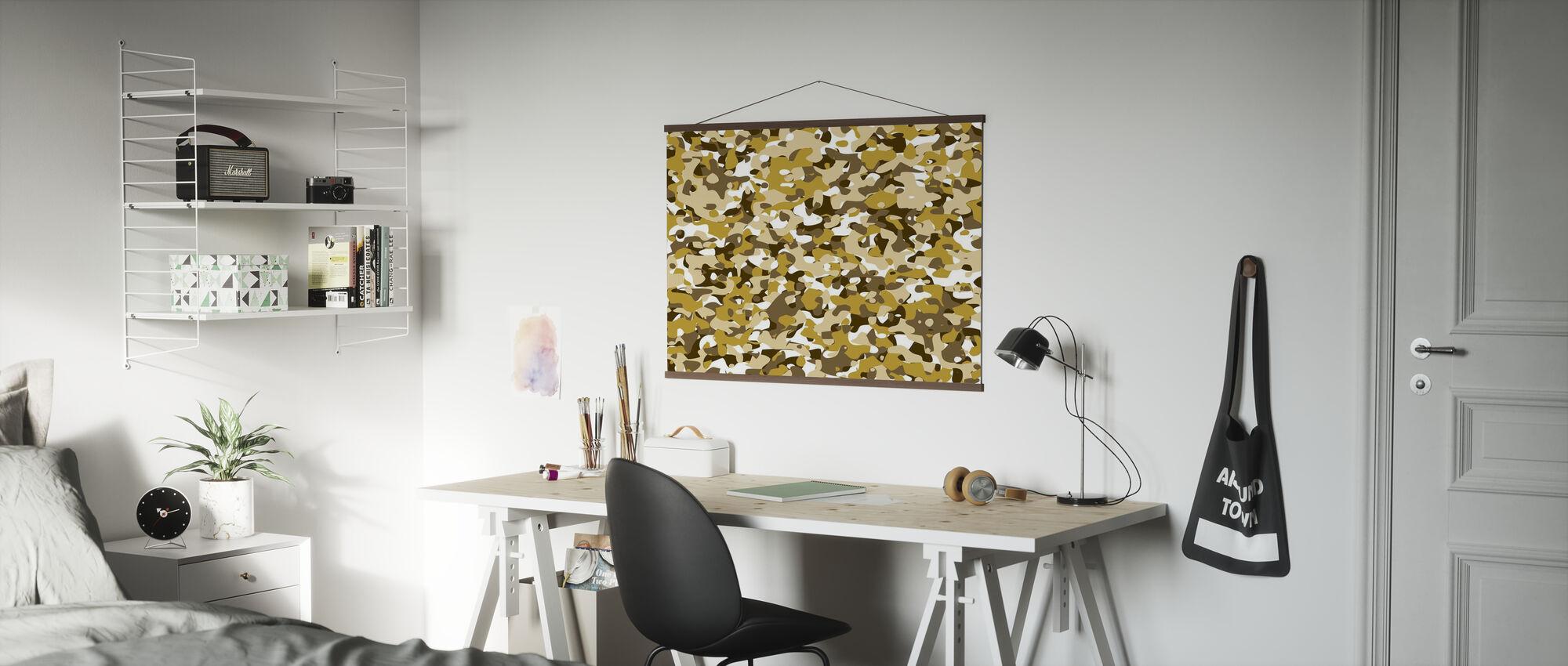 Kamouflage - Gul - Poster - Kontor