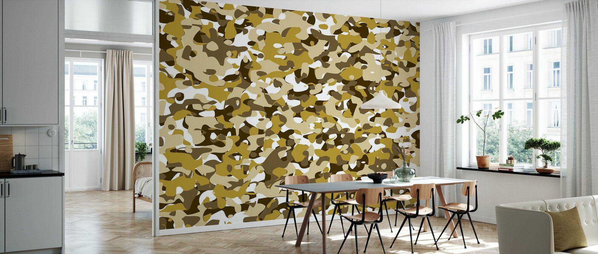 Camouflage - Yellow - Wallpaper - Kitchen