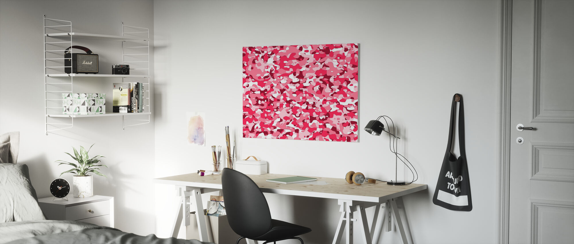 Camouflage - Pink - Canvas print - Kids Room