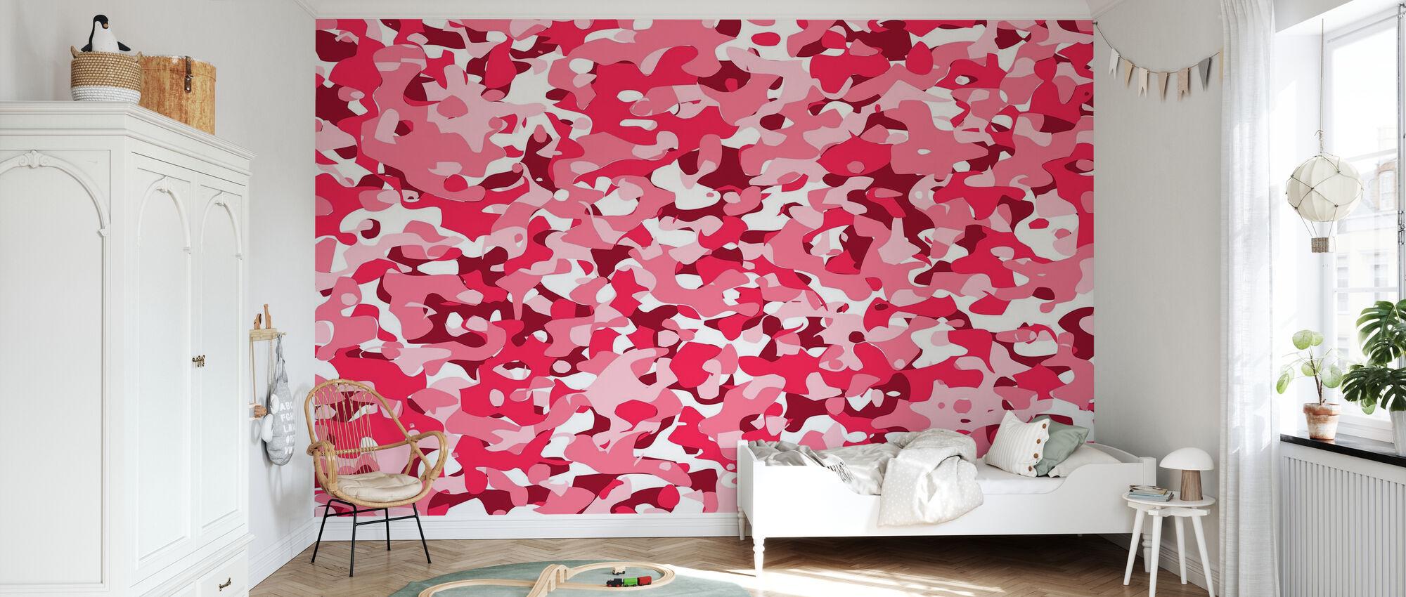 Camouflage - Rosa - Carta da parati - Camera dei bambini