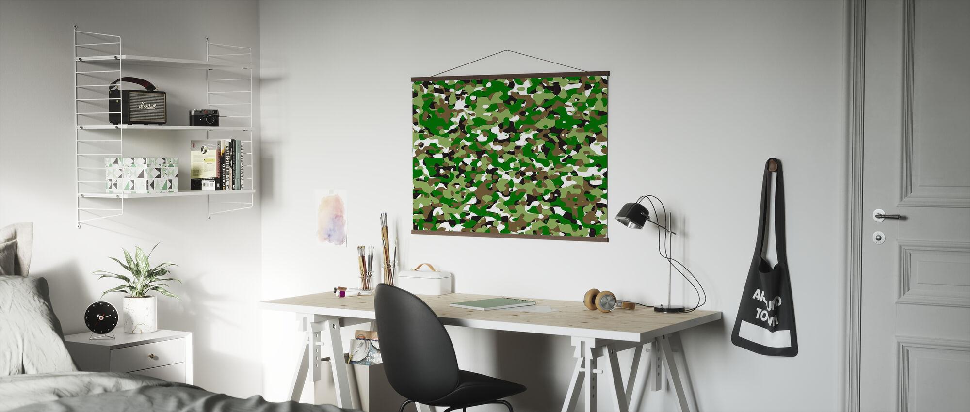 Camouflage - Groen - Poster - Kantoor