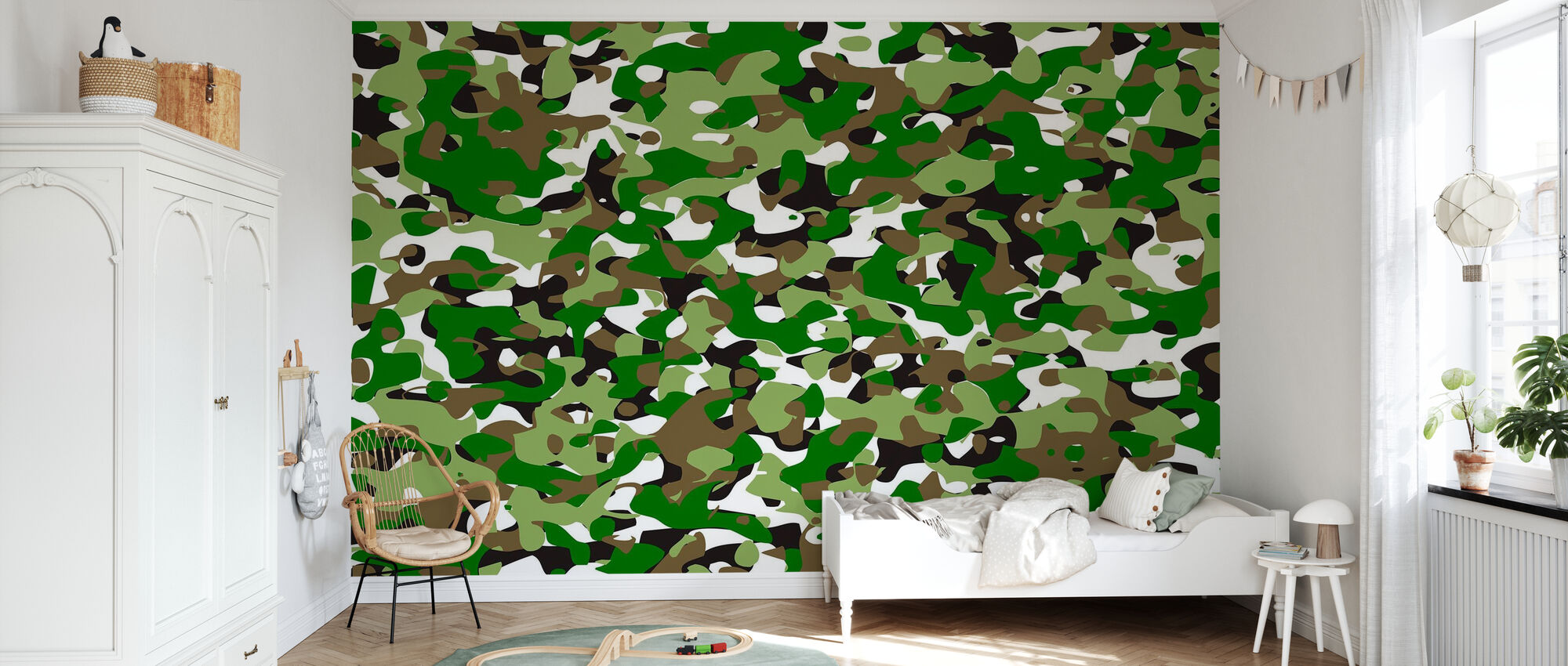 Camouflage - Green - Wallpaper - Kids Room