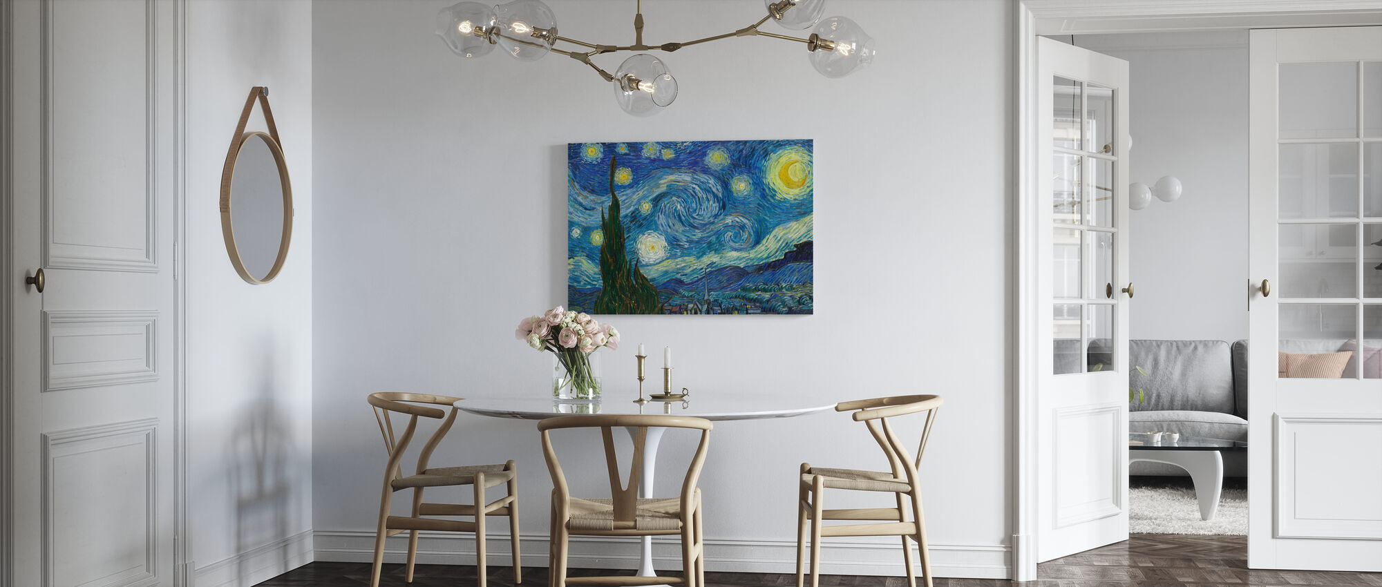 Vincent Van Gogh - Starry Night - Canvastaulu - Keittiö