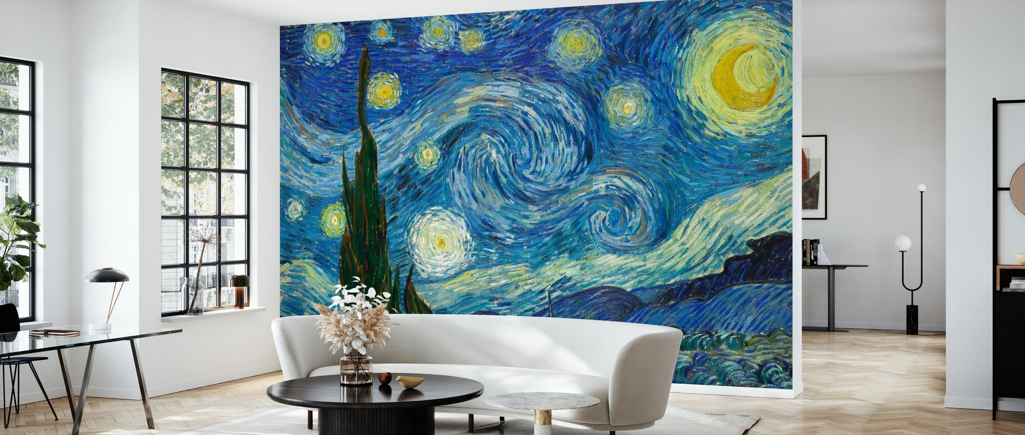 Vincent Van Gogh - Starry Night - Wallpaper - Living Room