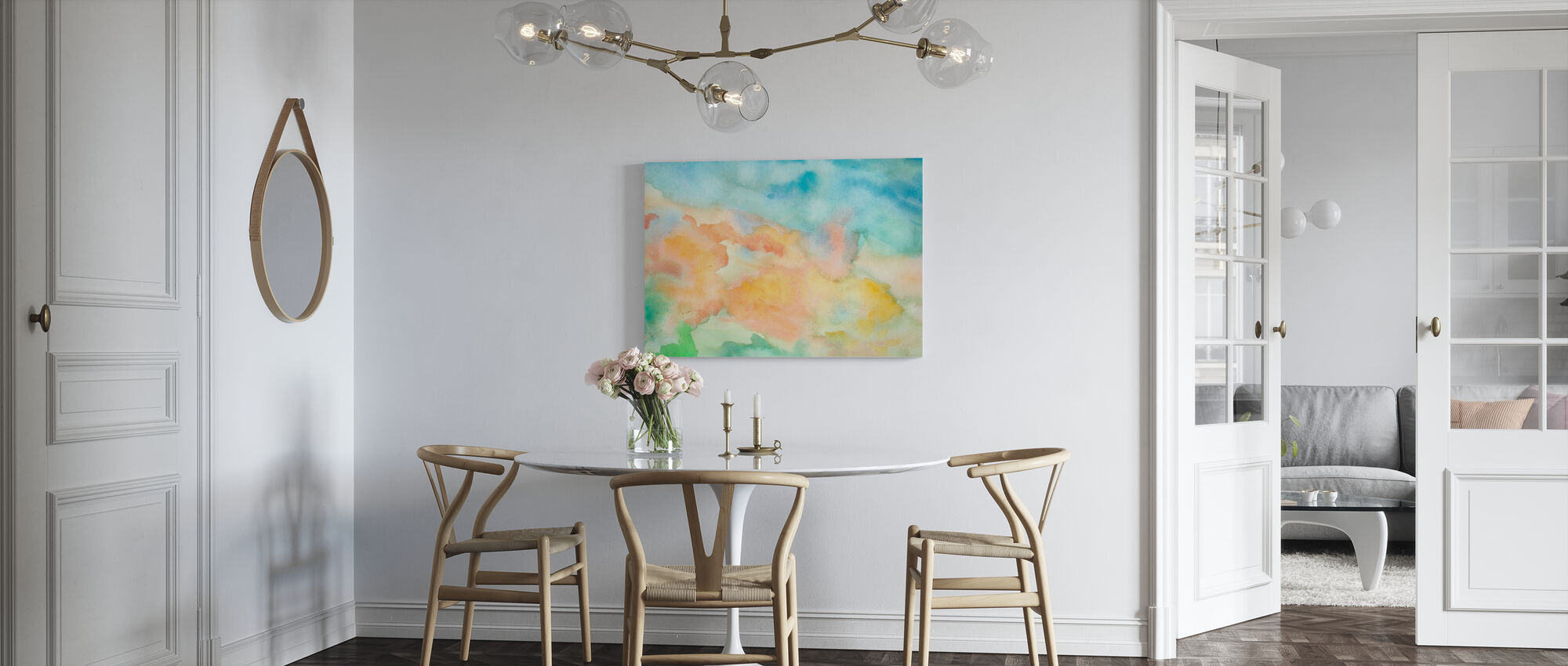 Abstract Watercolor Sky - Canvas print - Kitchen