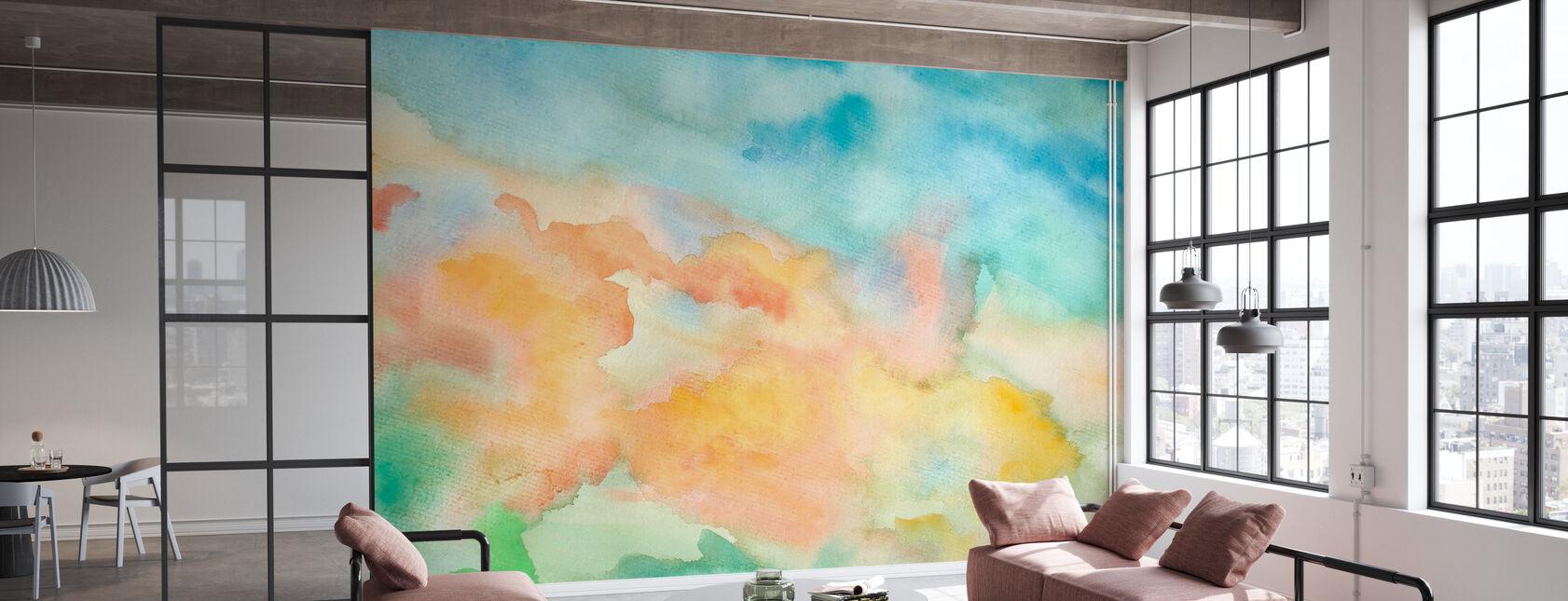 Aquarelle abstraite Ciel - Papier peint - Bureau