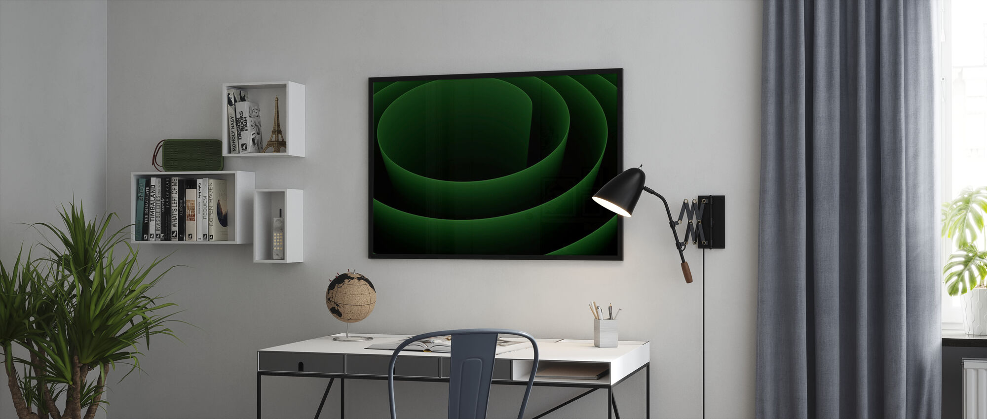 Abstract 3D Spiral - Poster - Office
