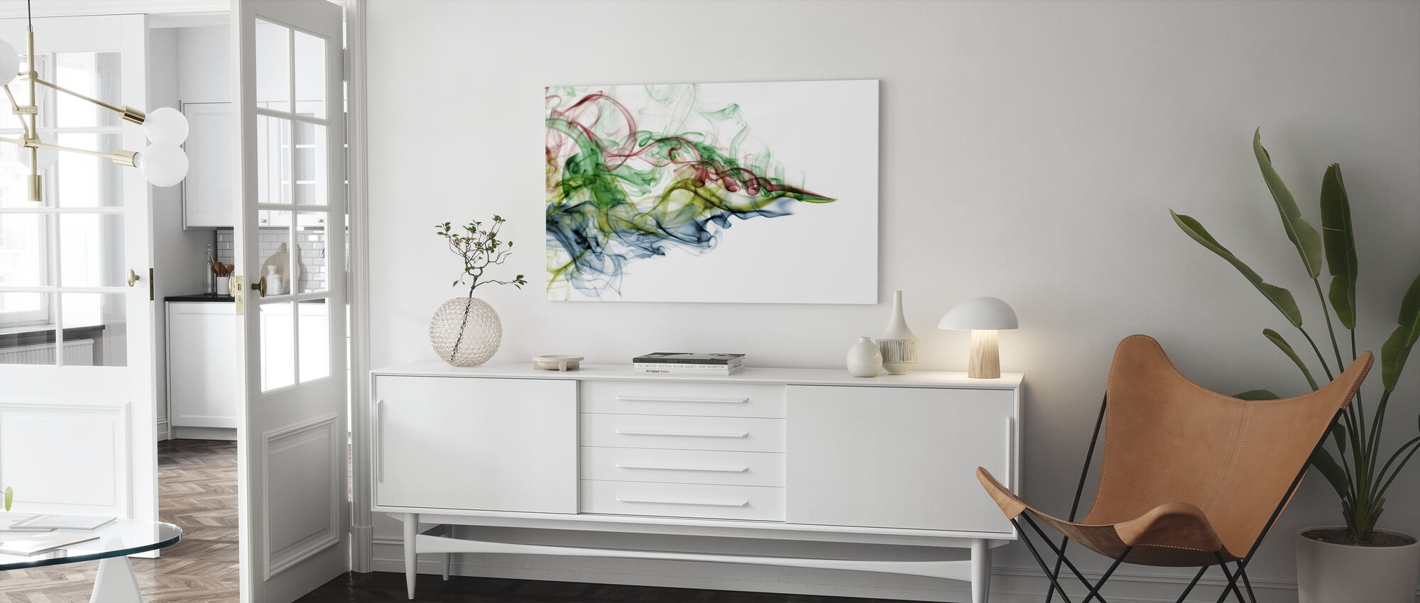 Color Smoke - Canvas print - Living Room