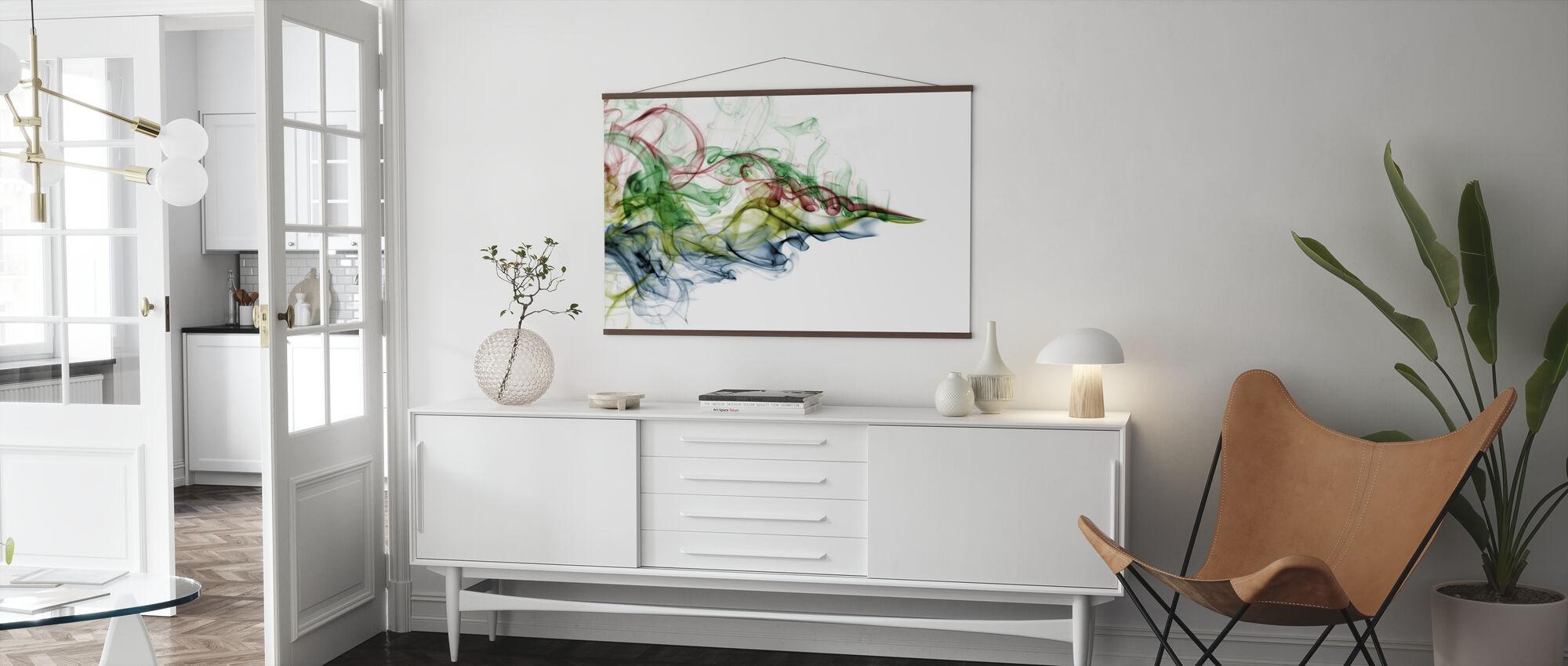 Color Smoke - Poster - Living Room