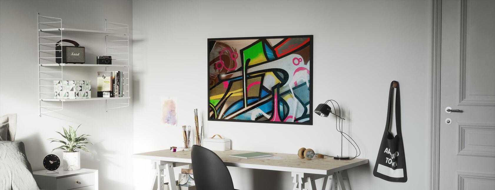 Fargerik Graffiti - Innrammet bilde - Barnerom