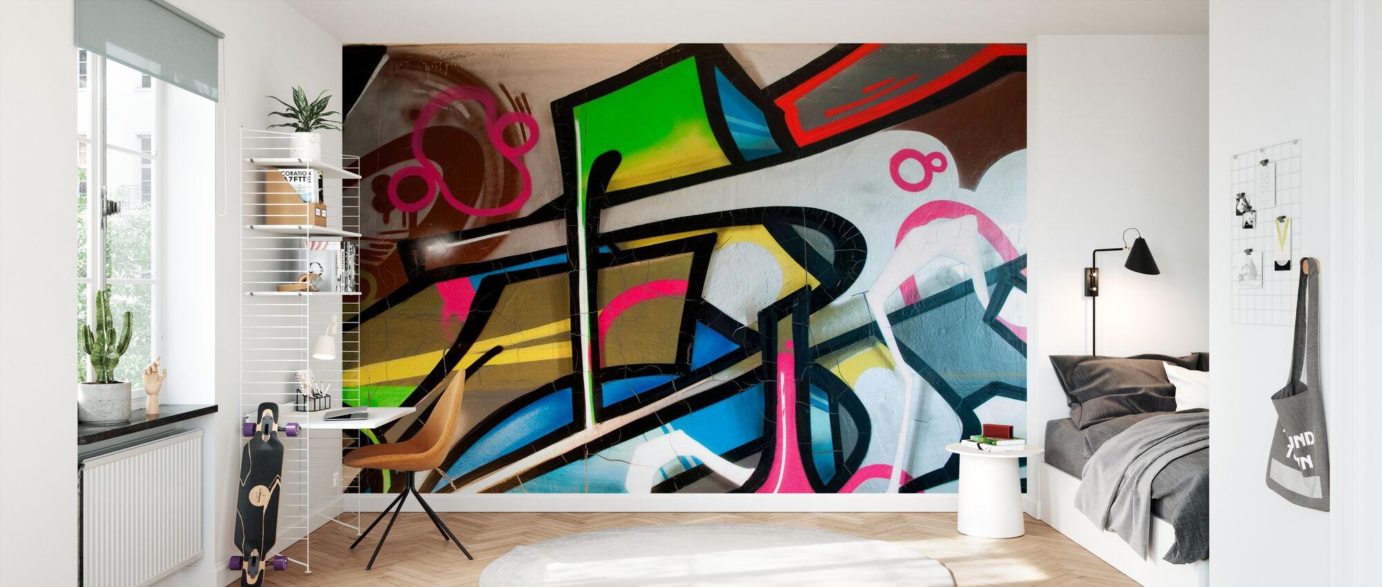 Colorful Graffiti - Wallpaper - Kids Room