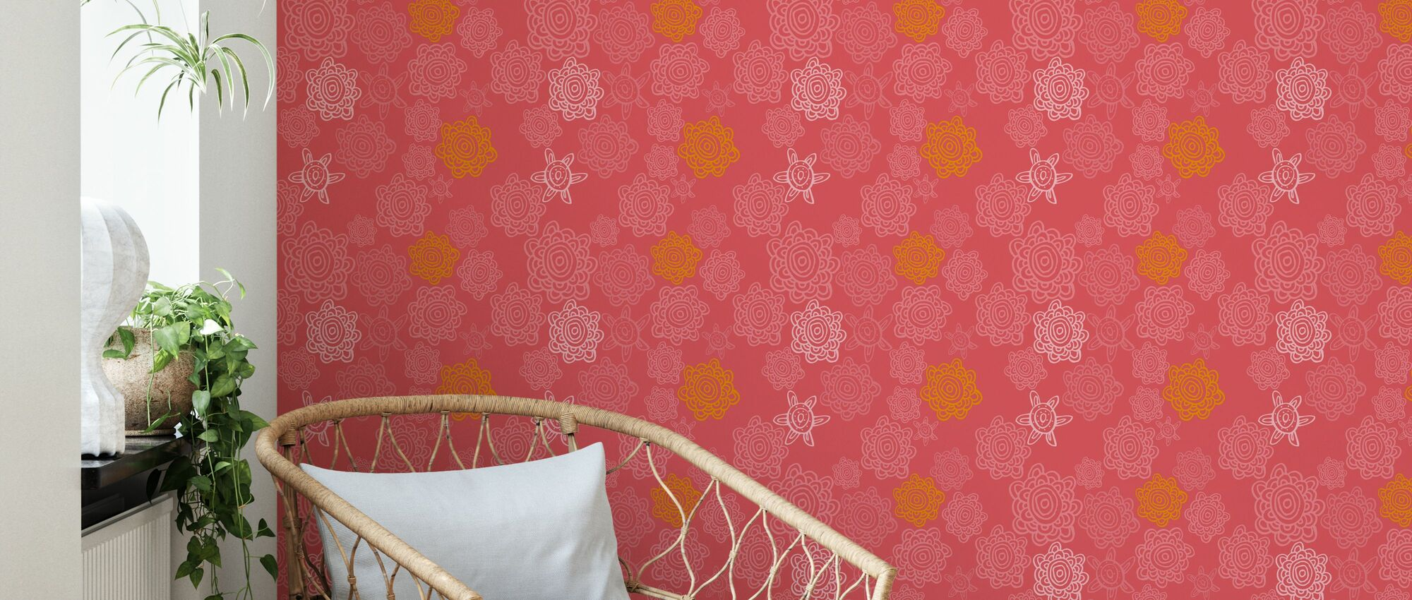 Swirlygirly - Cosy - Wallpaper - Living Room