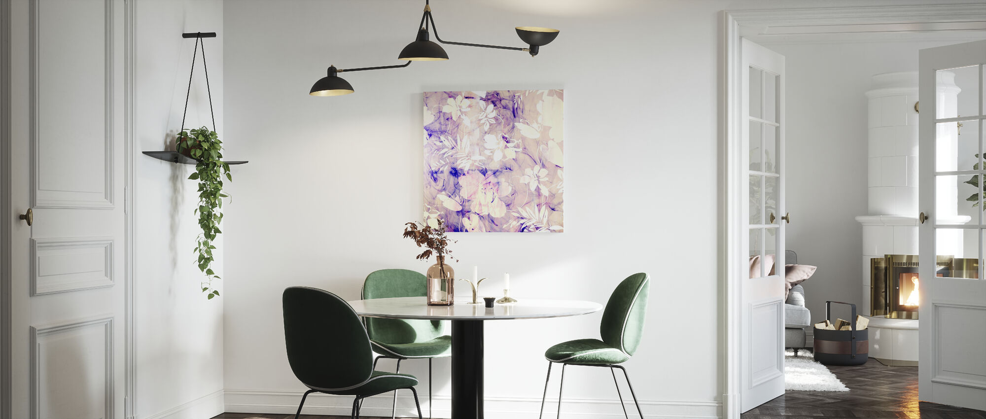Turquoise Madam - Canvas print - Kitchen