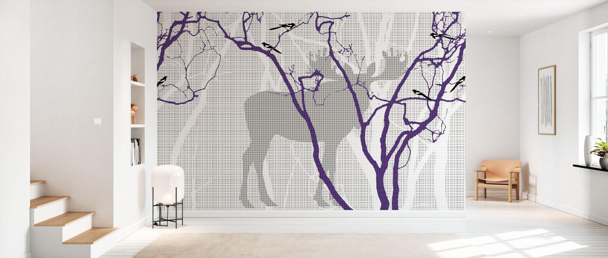 Rhubarb - Blueberry - Wallpaper - Hallway
