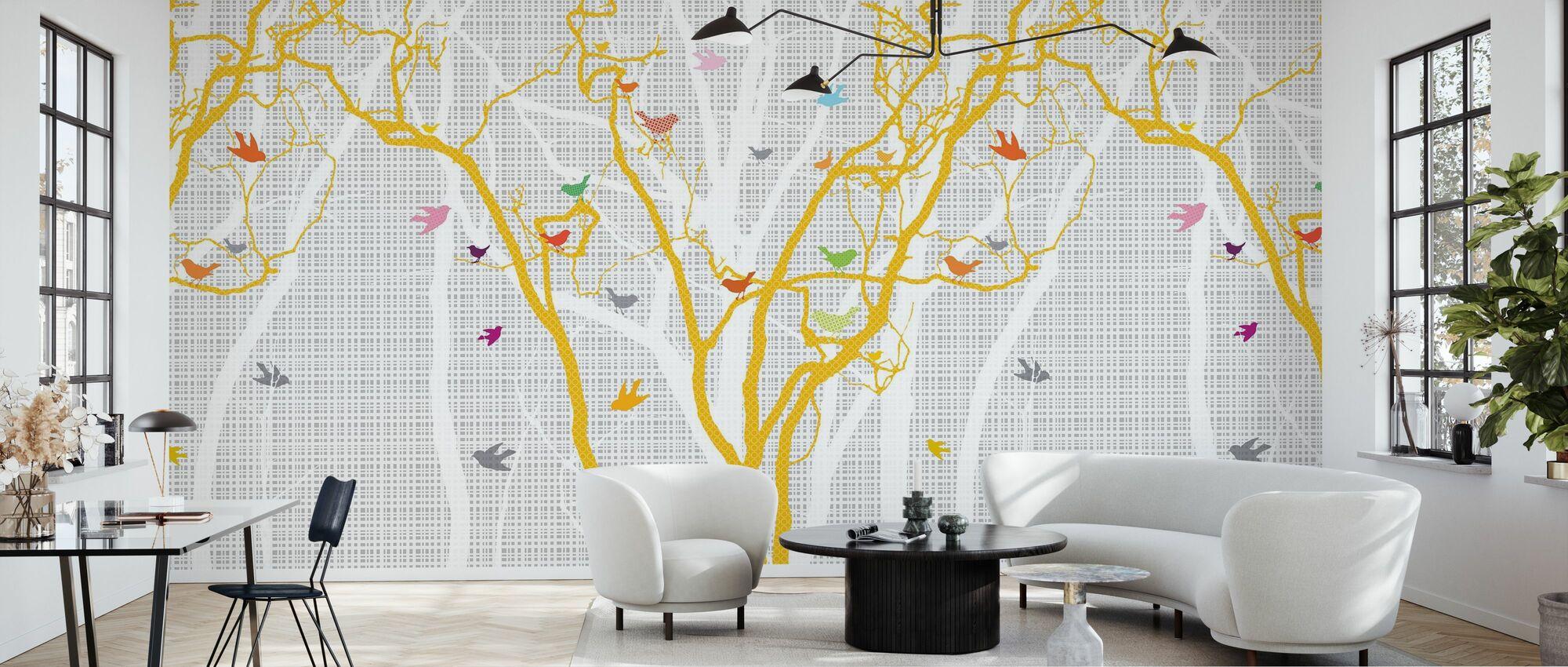 Hide and Seek - Sunshine - Wallpaper - Living Room