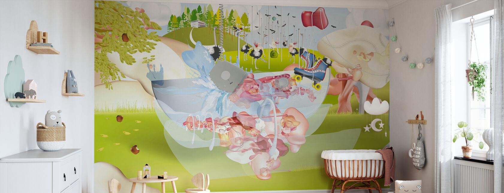 Landschap 2 - Behang - Babykamer