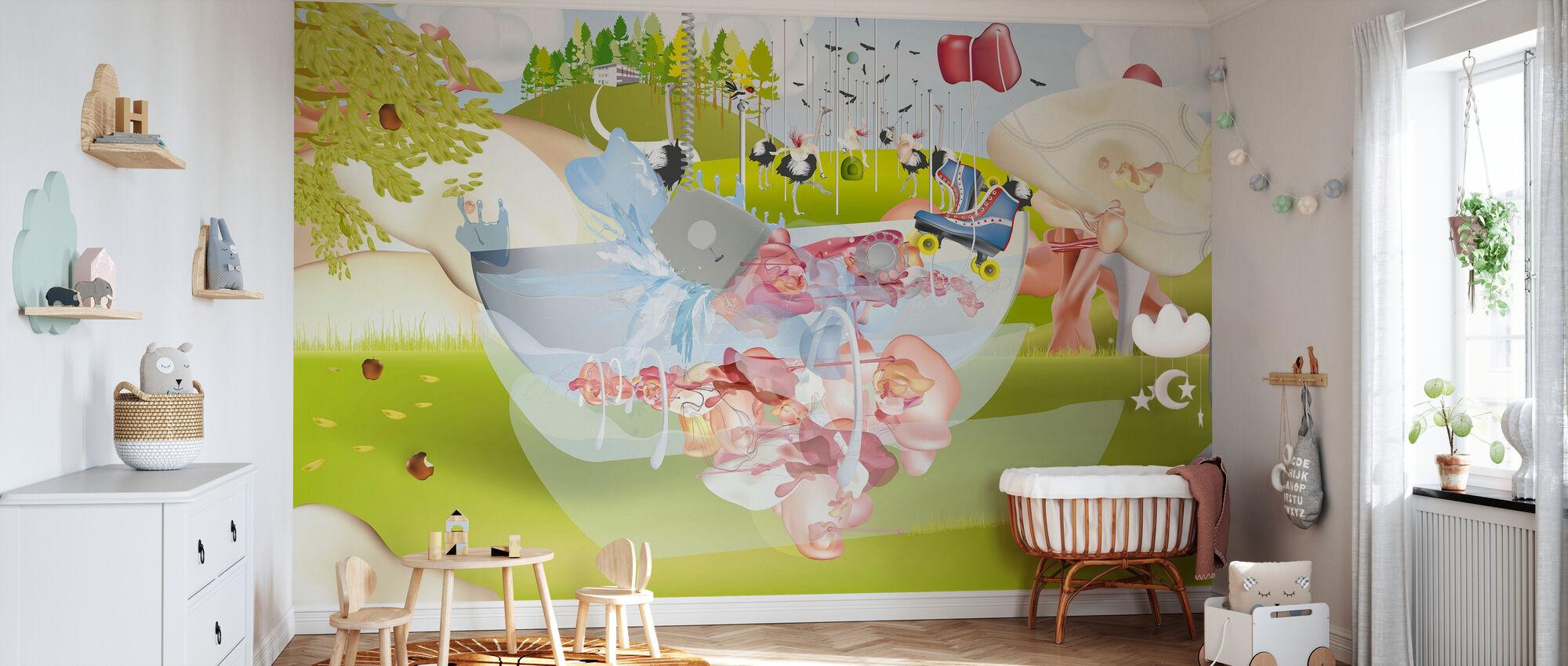Paysage 2 - Papier peint - Chambre de bébé