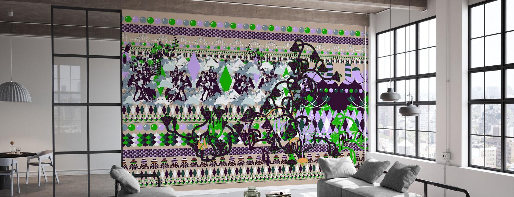 Saxe, Gustav - Arlequin Vert - Papier peint - Bureau