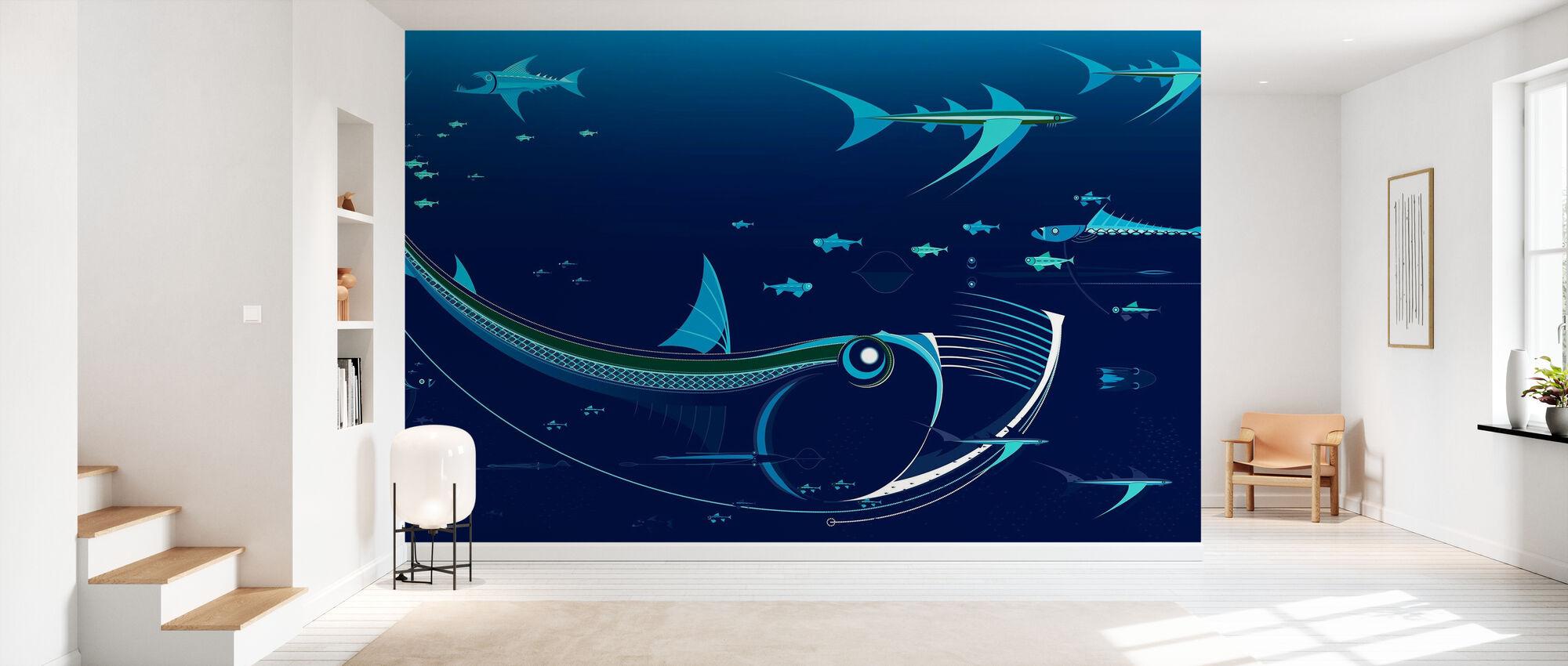 Northmix Blue - Wallpaper - Hallway