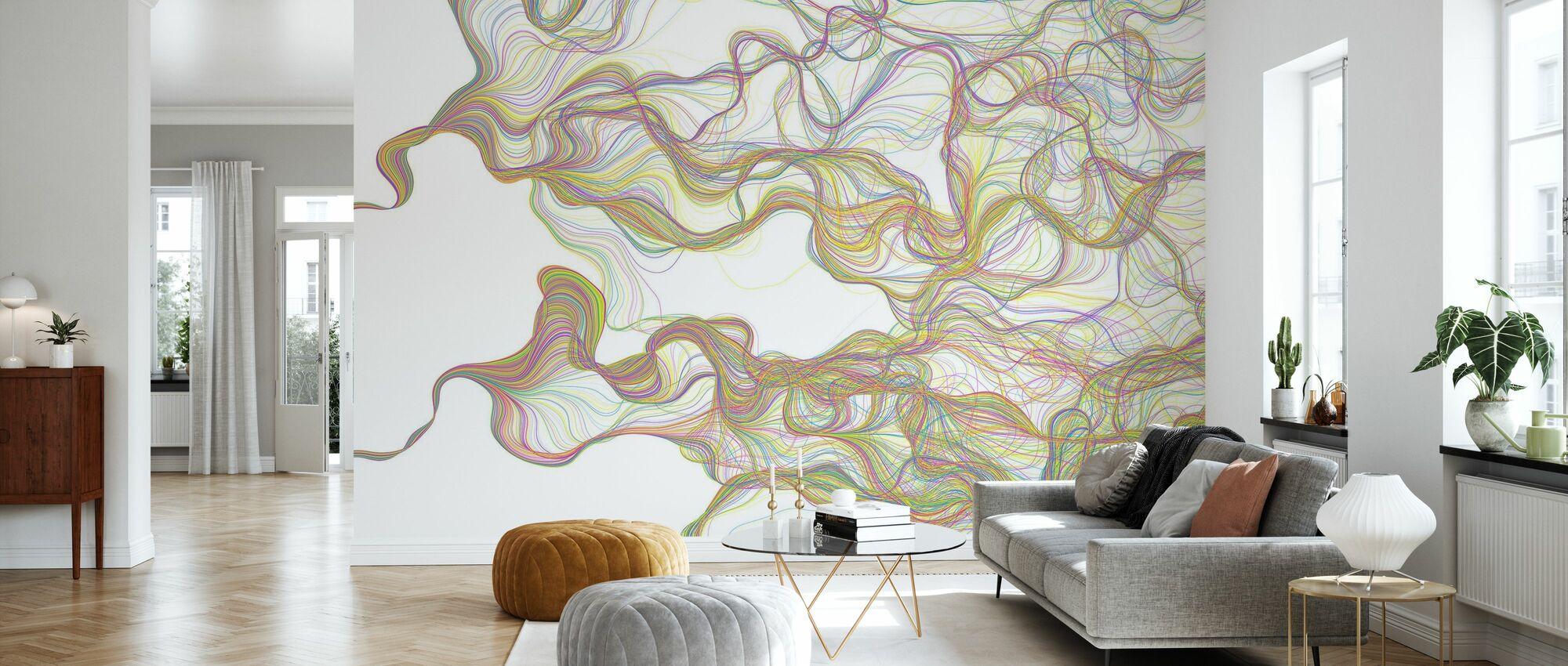 H Torsion Color - Wallpaper - Living Room