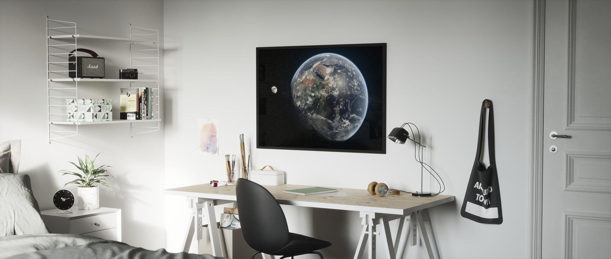Blue Dot - Mirrored - Framed print - Kids Room