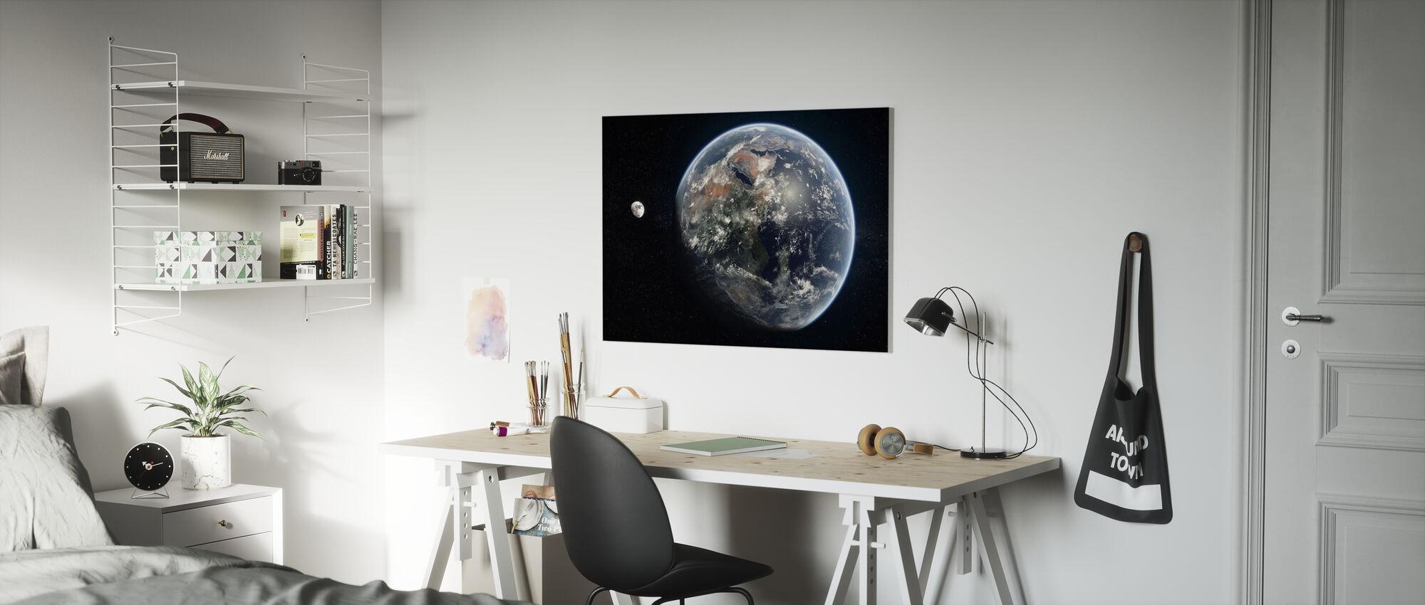 Blue Dot - Mirrored - Canvas print - Kids Room