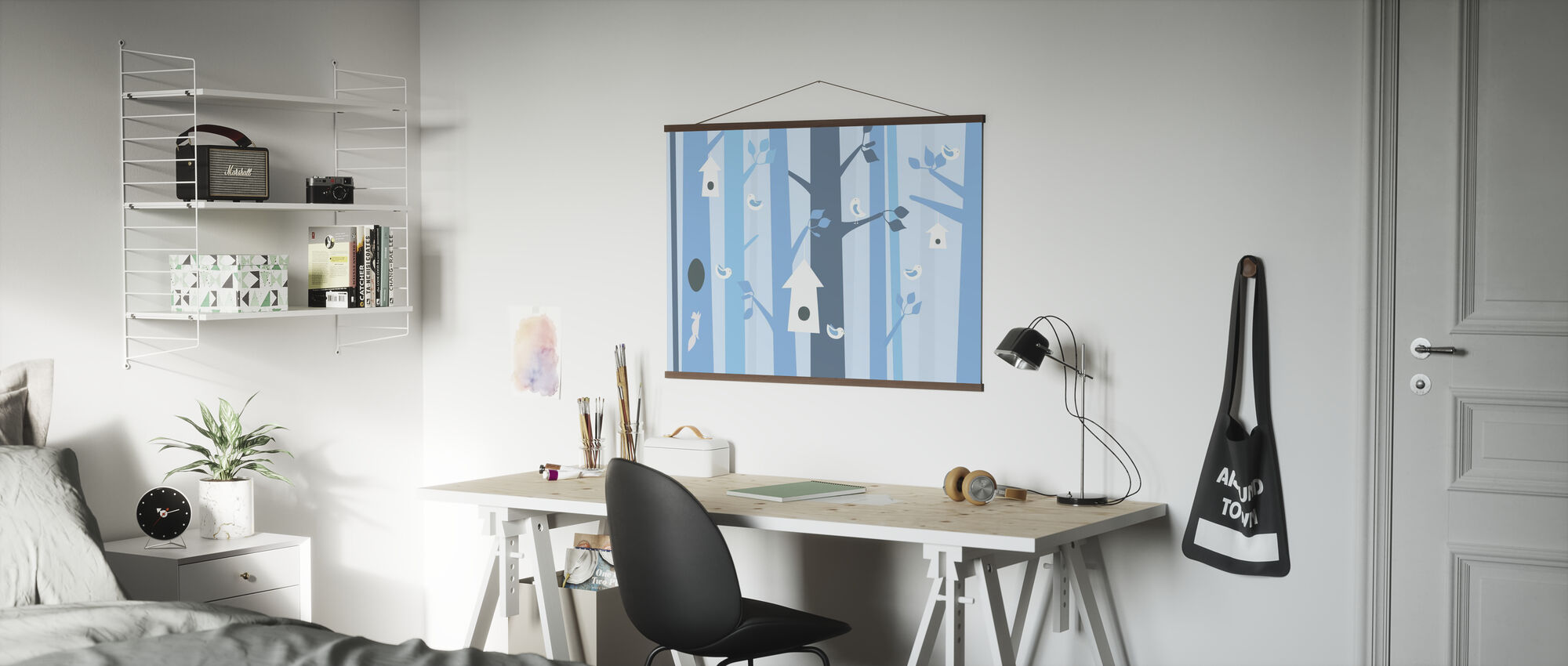Birdforest - Blue - Poster - Office