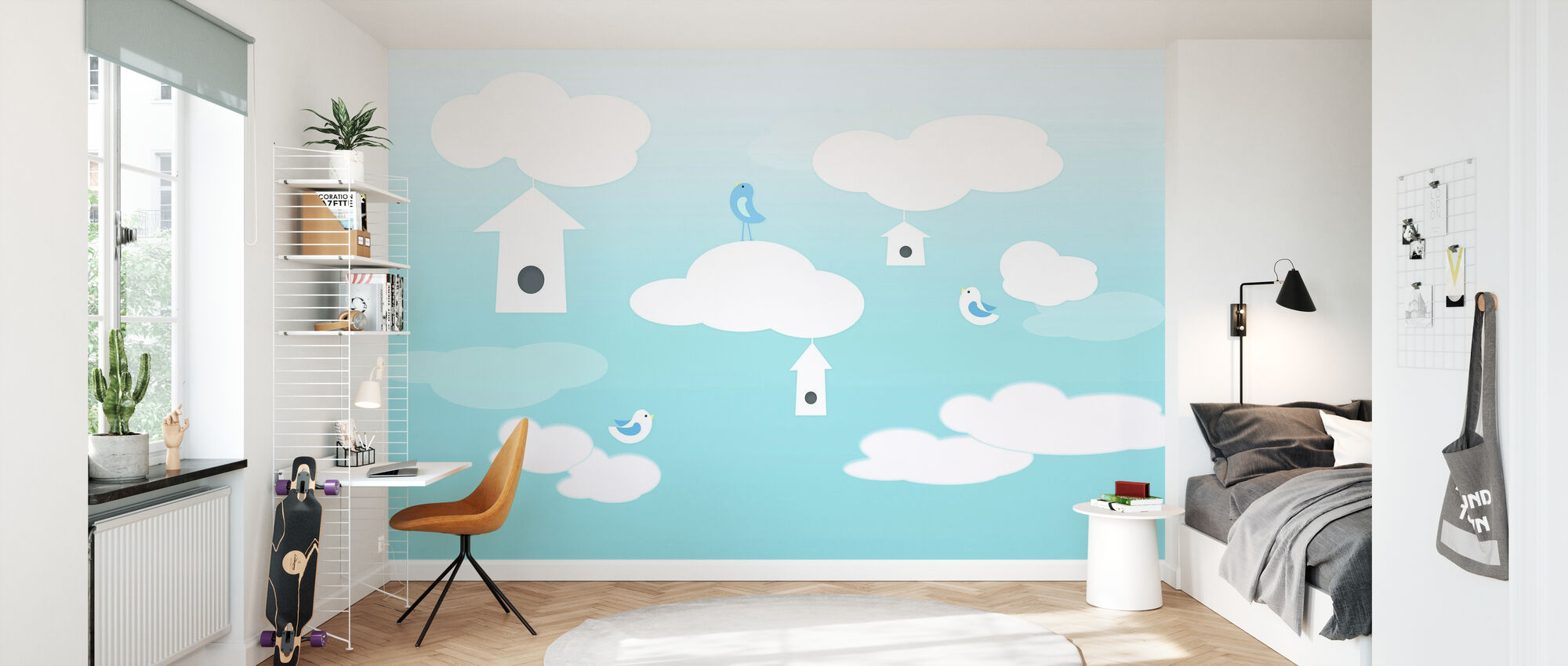 Birds up High - Wallpaper - Kids Room
