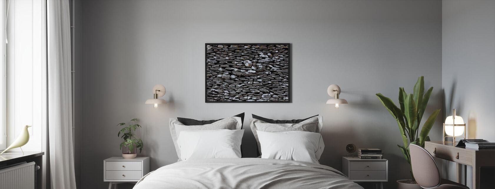 Stenen Muur - Ingelijste print - Slaapkamer