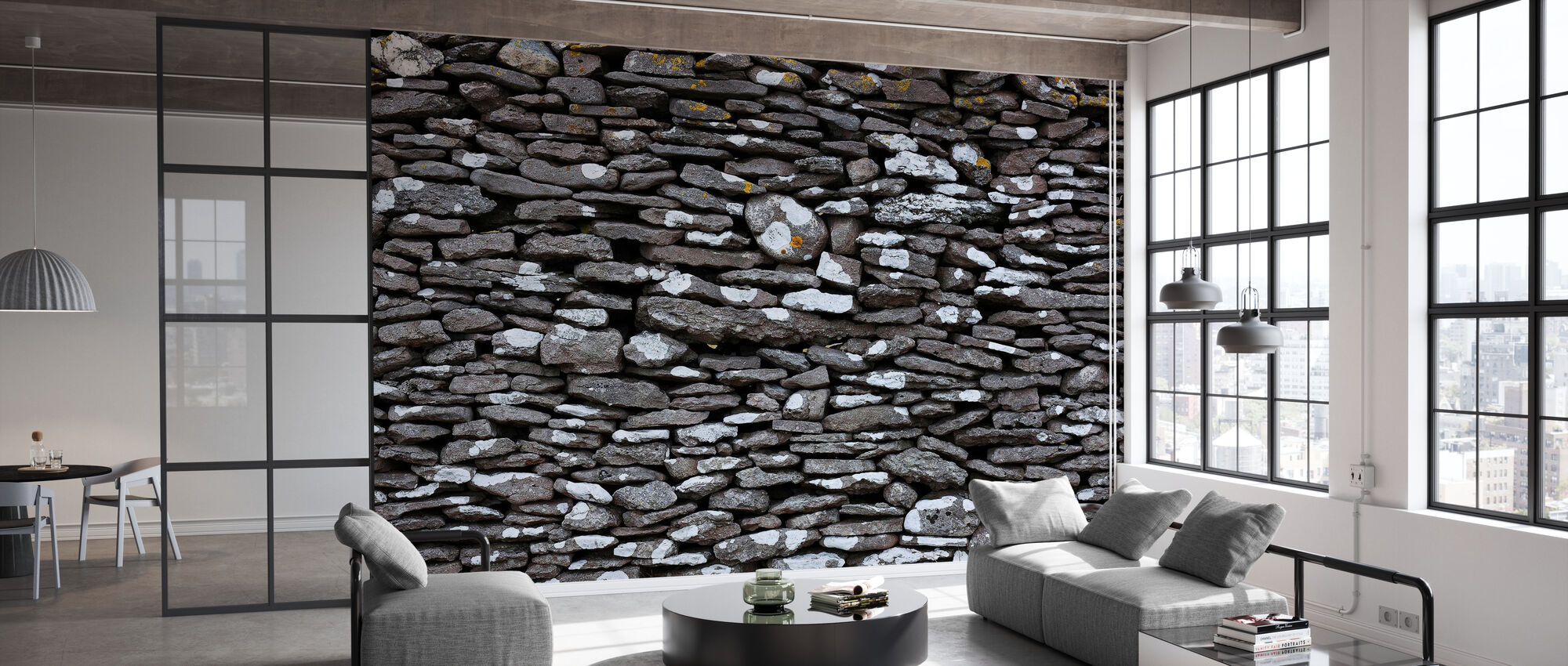 Stone Wall - Wallpaper - Office