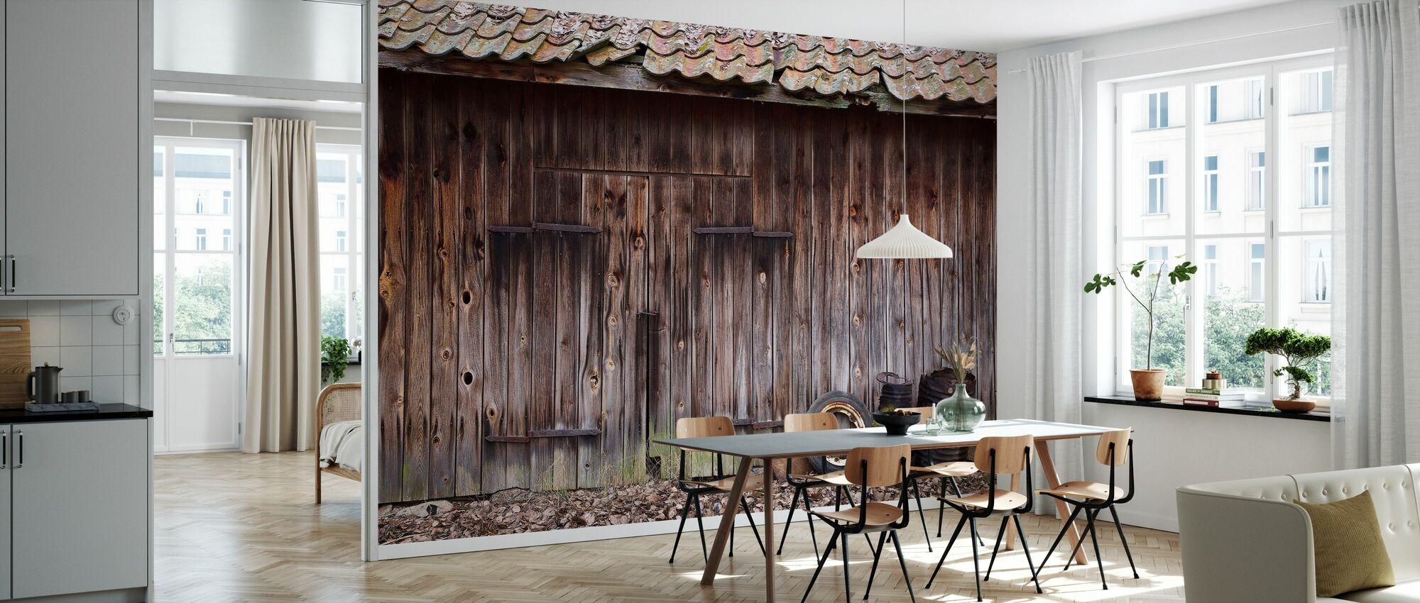 Old Barn - Wallpaper - Kitchen