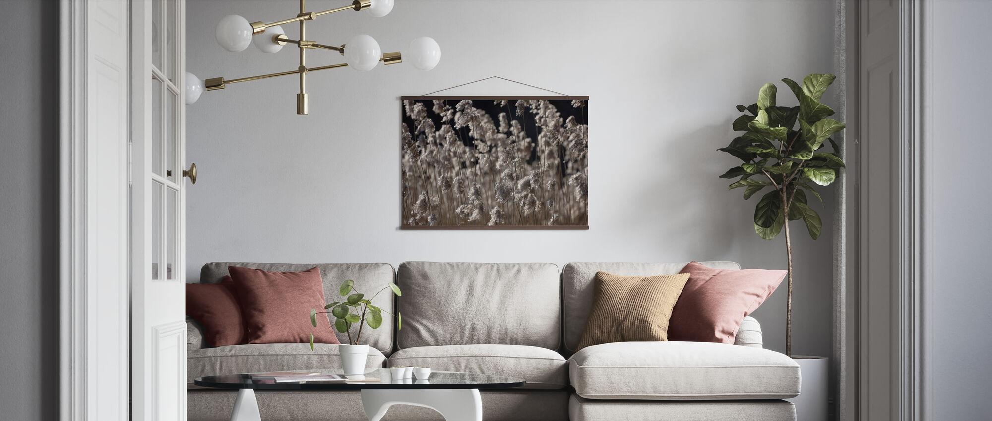 Fluffy Sølv Gress - Plakat - Stue